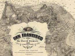 san francisco map painting david rumsey historical map collection all categories