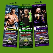 wwe birthday party invitations images invitation design ideas