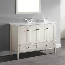 wyndenhall windham soft white 48 inch 2 door 2 drawer bath vanity