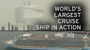 largest cruise ship in the world world u0027s largest cruise ship visits britain it has sixteen decks