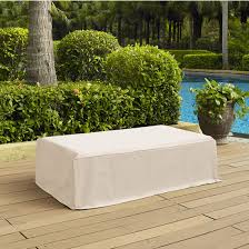 Rectangular Patio Furniture Covers by Crosley Furniture Outdoor Furniture Cover In White Finish