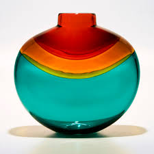 designer vases nefertiti by michael trimpol boha glass
