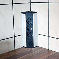 ecksteckdose küche steckdose für küche und büro ecksteckdose aus aluminium und