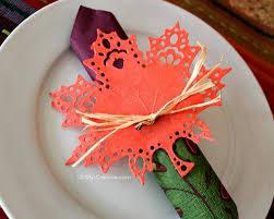 diy leaf thanksgiving napkin ring oh my creative