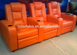 top quality purple recliner sofa in leather vip cinema sofa ls811