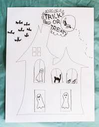 free halloween haunted house printable easy halloween fun for kids