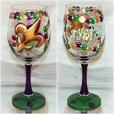 mardi gras glasses mardi gras big bead wine glass