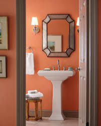 glidden u0027s ripe apricot color warms up your bathroom decor