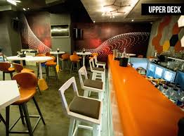 vortex south lounge bar interior design by aesthos