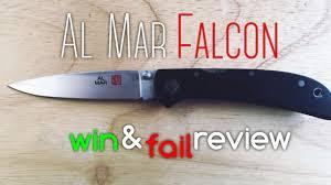 pure edc al mar falcon ultralight win and fail review youtube
