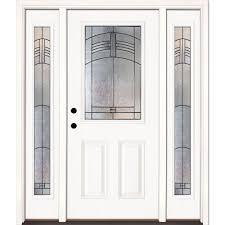 fiberglass doors front doors home depot