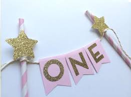 Cake Decorations For 1st Birthday New Pink Gold Twinkle Little Star One Cake Topper Cake Party