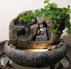 Water Fountain Home Decor Small Tabletop Buddha Water Fountain Great Home Decor