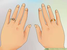 how to wear wedding ring set what is the wedding ring on how to wear a wedding ring set