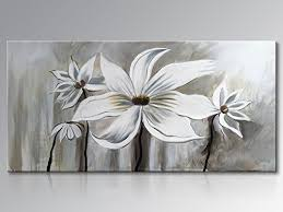 White Flower Wall Decor Dining Wall Decor Amazon Com