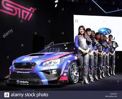 custom subaru wrx chiba japan 13th jan 2017 models display subaru wrx sti at the