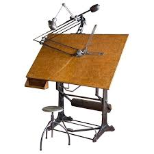 Drafting Table Calgary Vintage Oldor Industrial Drafting Table And Stool At 1stdibs