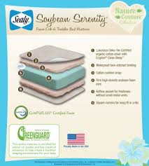Soy Crib Mattress Sealy Soybean Serenity Foam Infant Toddler Crib Mattress