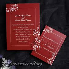 Red And Black Wedding Invitations Simple Red And White Wedding Invitations Invitesweddings Com