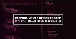 responsive header design exles responsive web design footer with html css and jquery code exles