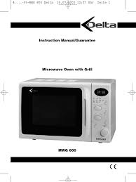 delta microwave manual grilling oven