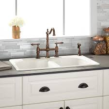 sinks farmhouse kitchen sink black granite countertop white tile