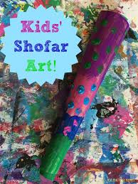 yom kippur shofar kids u0027 craft yom kippur tissue paper and craft