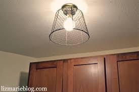 Diy Light Fixtures with Diy Wire Basket Light Liz Marie Blog