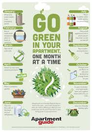 go green in your apartment one month at a time infographic