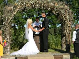 wedding arches decorated with burlap wood arches for wedding finding wedding ideas