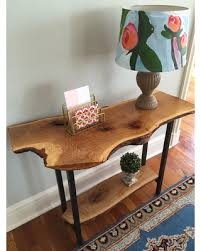 Oak Sofa Table Here S A Great Price On Live Edge Entryway Table
