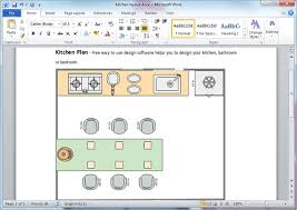 Kitchen Plan Templates For Word