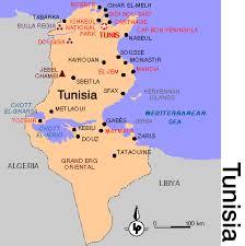 tunisia map map of tunisia