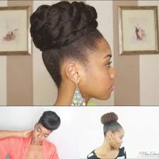 4 simple faux bun styles for any natural hair length black