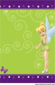 tinkerbell free printable invitation card bunting candy bar