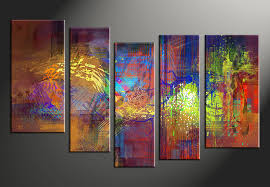 vvvart reviews 5 piece abstract decor colorful oil paintings multi