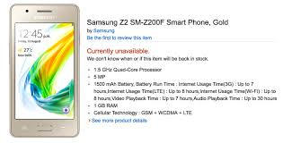 amazon black friday ram amazon india now offering the samsung z2 sm z200f online tizen