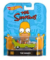 Homer Amazon Com Wheels Retro Entertainment Diecast The Homer