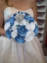 wedding flowers blue and white blue wedding bouquet by bridal bouquets