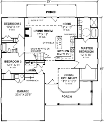 one level floor plans one story split bedroom 40158wm architectural designs house