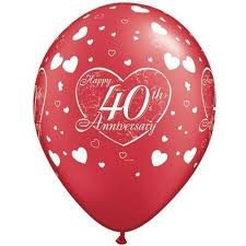 what is 40th wedding anniversary happy 40th wedding anniversary ruby 11 balloons
