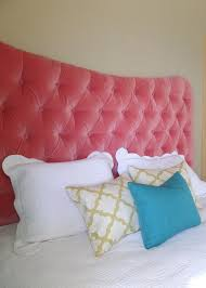 Velvet King Headboard Pink Coral Velvet King Sized Tufted Upholstered Headboard Custom