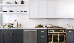 White And Gray Kitchen Cabinets Dark Gray Kitchen Cabinets With All White Subway Tiles