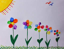 rainbow fingerprint flower family art fspdt