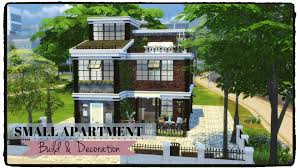 the sims 4 small apartment apartment building part 1 youtube