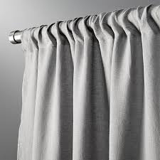 Grey Linen Curtains Graphite Linen Curtain Panel 48 X84 In Curtains Reviews Cb2