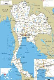 Thailand On World Map by Thailand Map Travel Map Vacations Travelsfinders Com