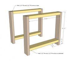 Build Your Own End Table Plans by Ana White Build A Rustic X End Table Free And Easy Diy Project