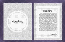 one column double sided leaflet brochure cover layout template