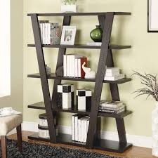 coaster bookcases modern bookshelf with inverted supports u0026 open